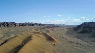 Rastplatz in der Wüste Gobi