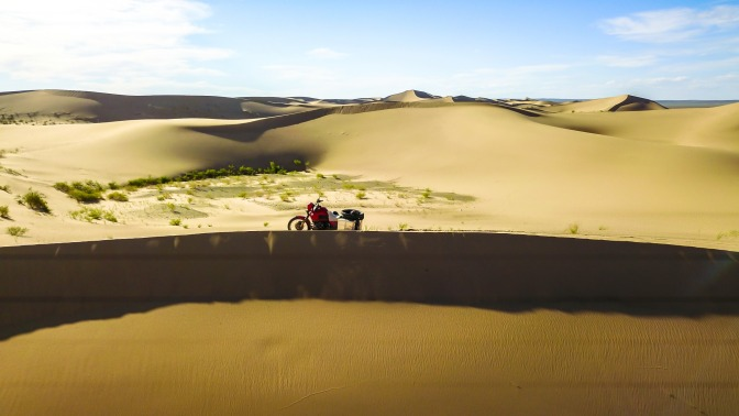 Dünen in der Wüste Gobi