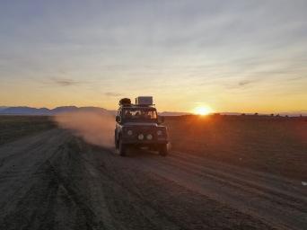 Fahrt am Abend an den Uvs Nuur