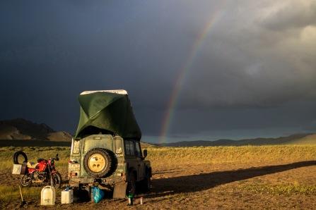 An einem Salzsee im Norden der Mongolei